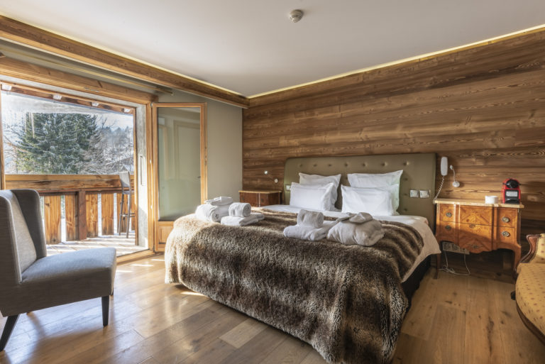 Rooms at chamois d'or hotel, Les Gets