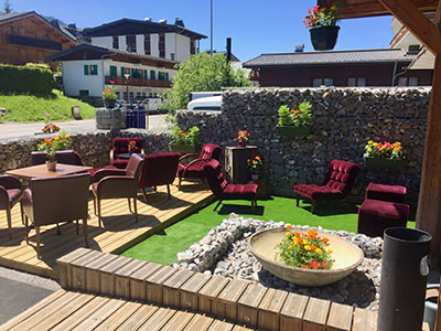Terrace at Chamois d'Or Hotel, Les Gets